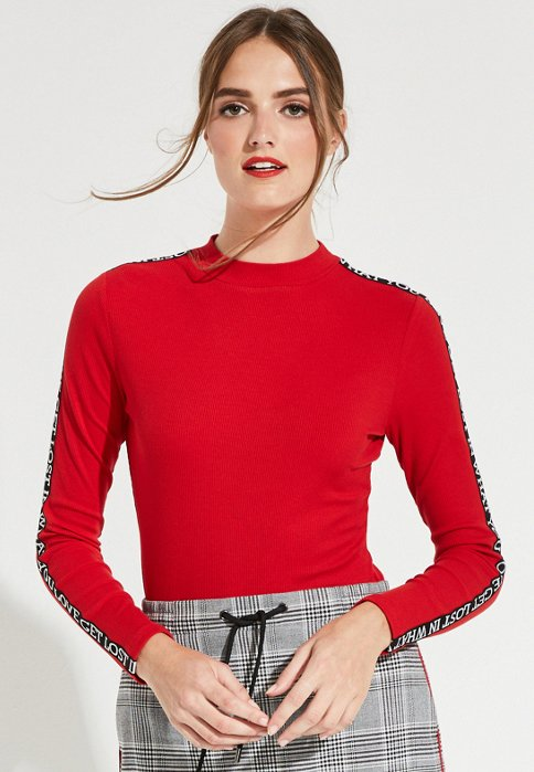 comma casual identity - Langarmshirt - red