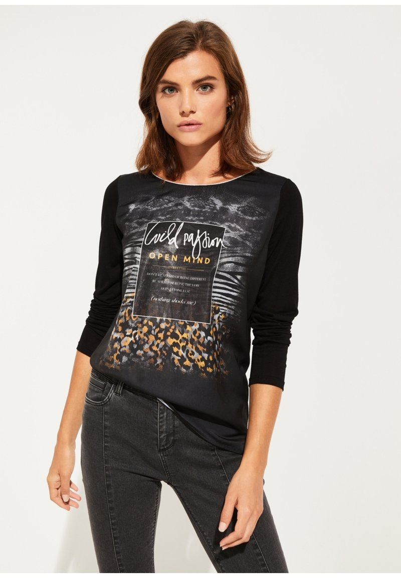 comma casual identity - Long sleeved top - black