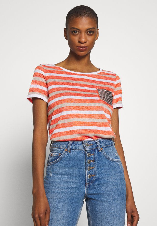 T-shirt med print - orange