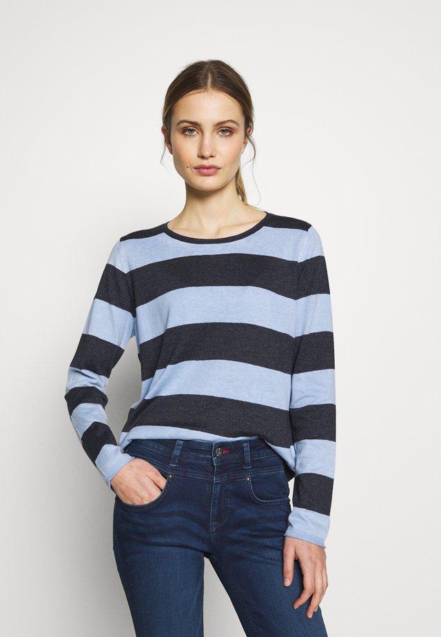 LANGARM - Stickad tröja - blue