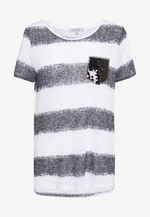 T-shirts med print - grey/black