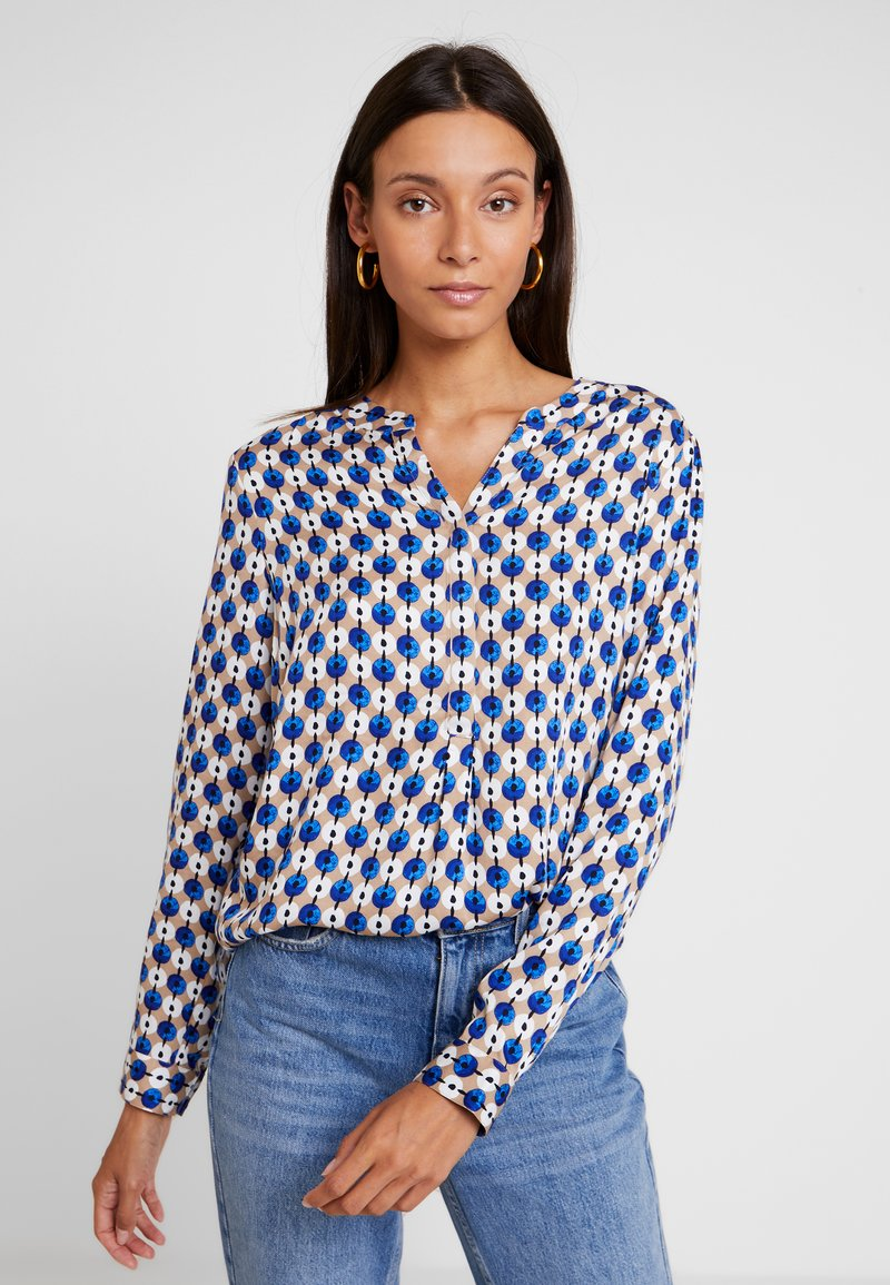 comma casual identity - LANGARM - Bluse - blue