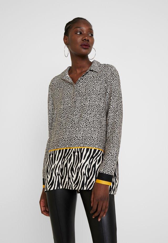 BLOUSE LONGSLEEVE - Bluse - black/white