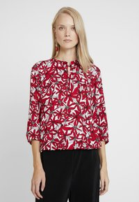 comma casual identity - BLOUSE 3/4 SLEEVE - Pusero - red - 0