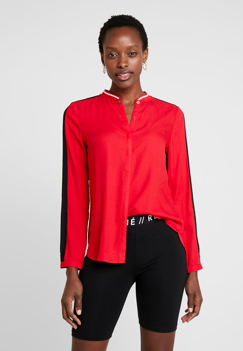 comma casual identity - Button-down blouse - red
