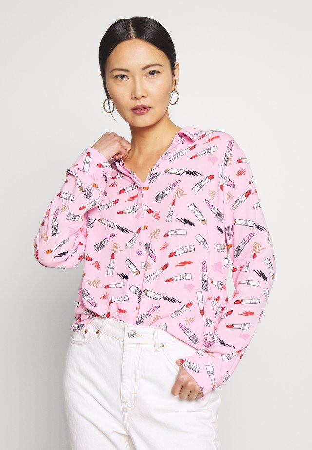 Button-down blouse - purple/pink