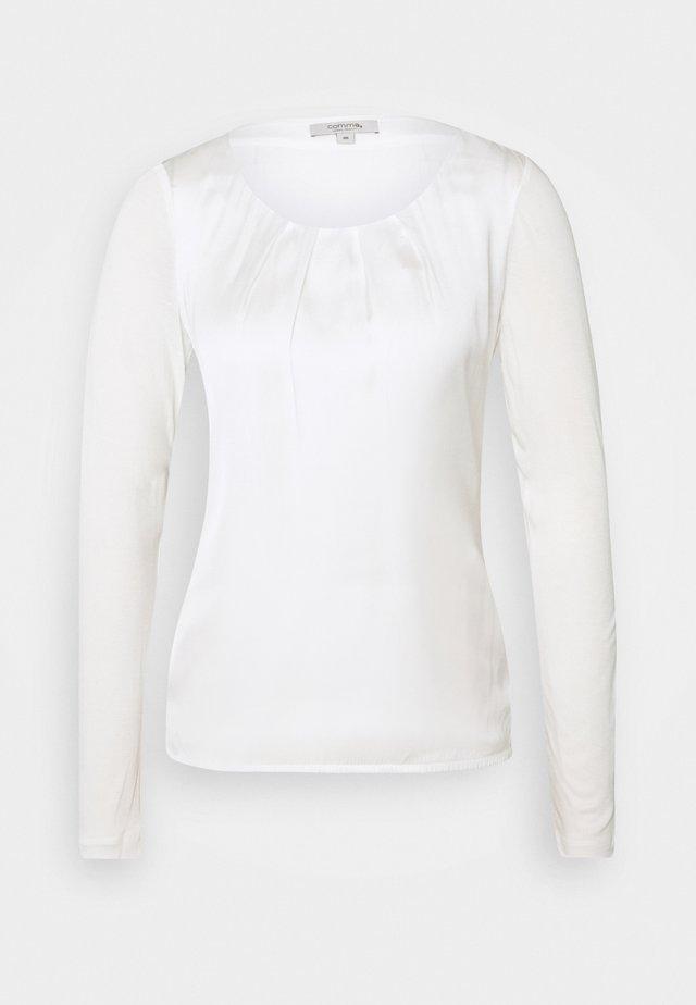 LANGARM - Bluse - white