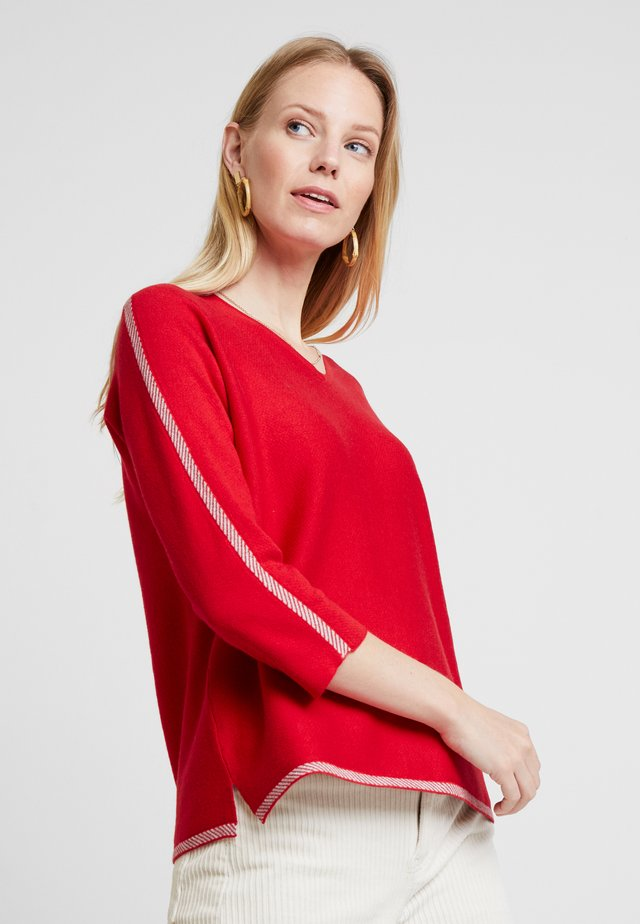 DOUBLE FACE JUMPER - Sweter - red