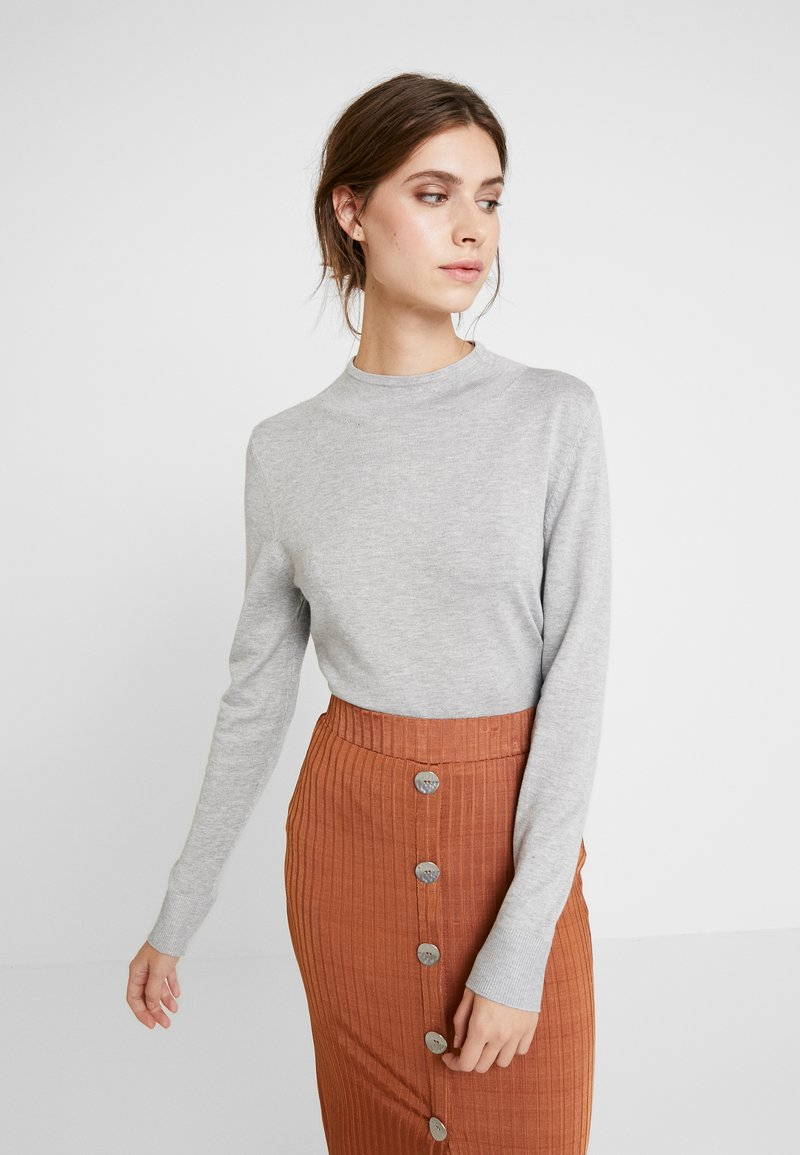 comma casual identity - REPEAT TURTLE NECK JUMPER - Jumper - light grey melange