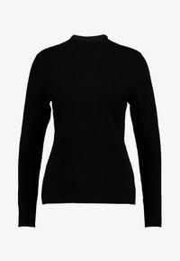 comma casual identity - REPEAT TURTLE NECK JUMPER - Maglione - black - 3