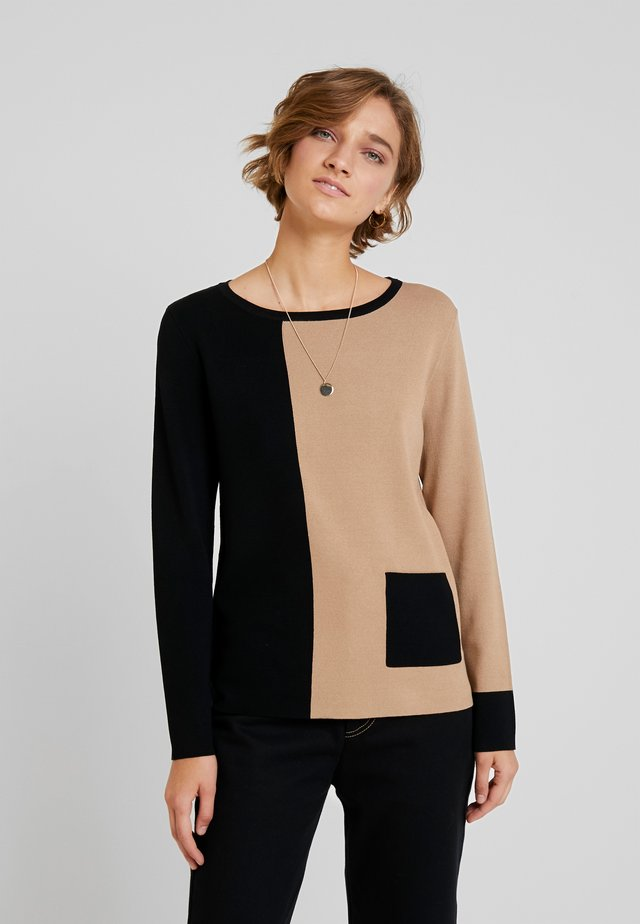 LONGSLEEVE - Strikpullover /Striktrøjer - brown