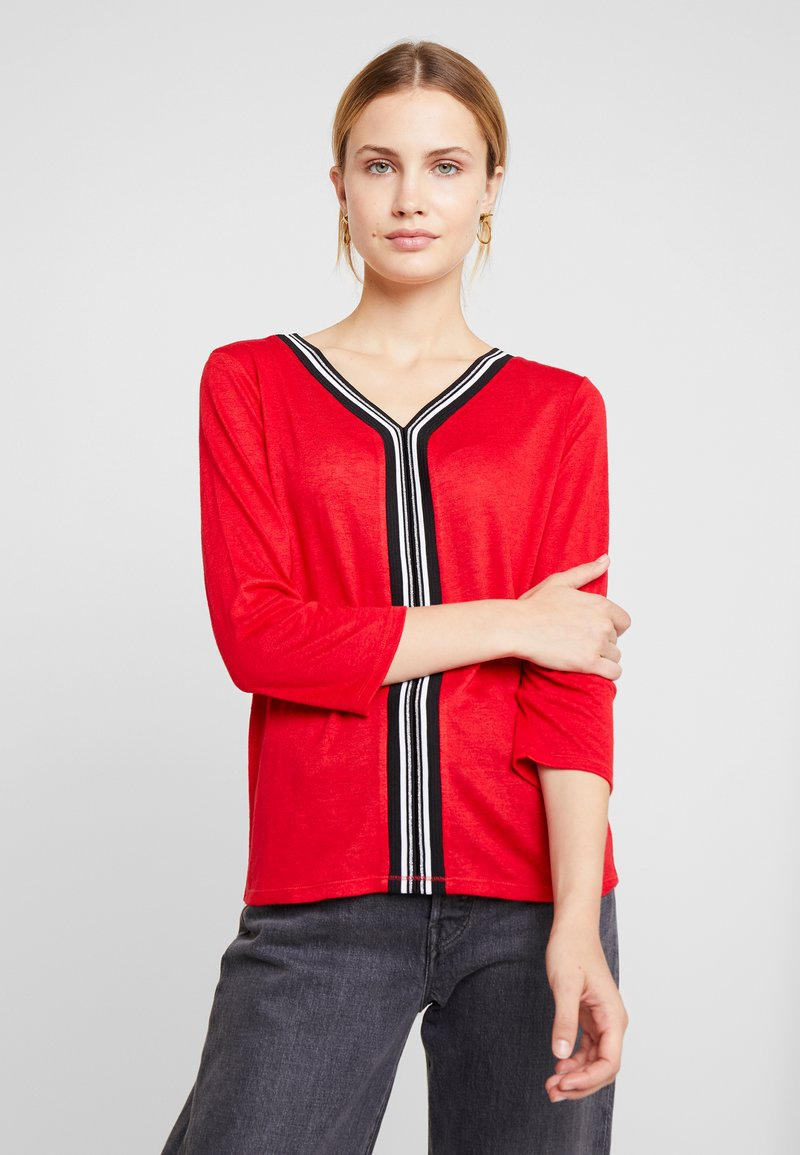comma casual identity - Long sleeved top - red
