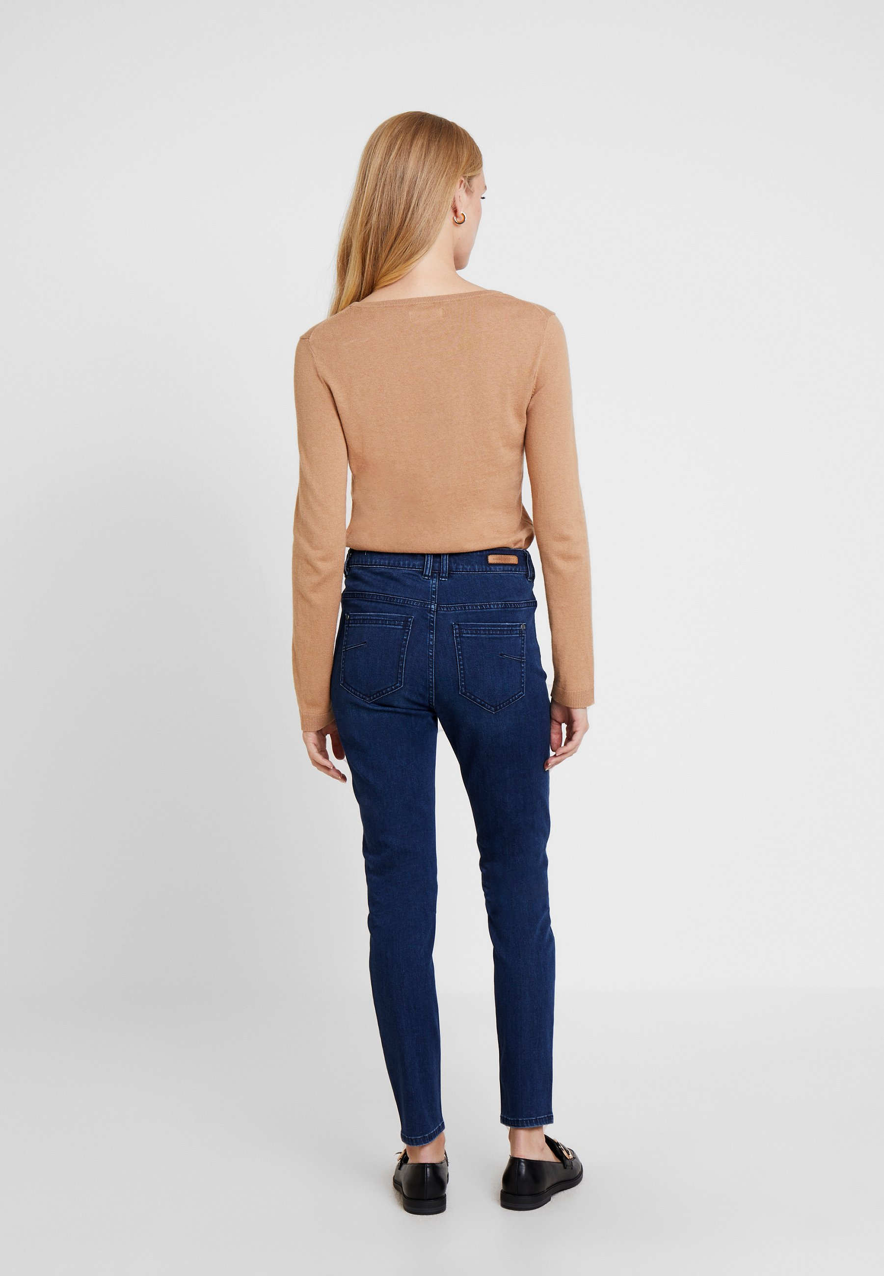 Identity Casual TrousersJean Denim Blue Slim Comma PXklOZwiuT