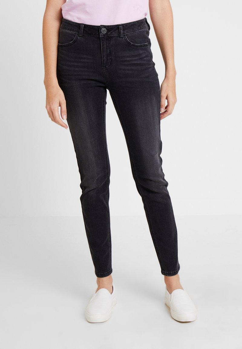 comma casual identity - TROUSERS - Slim fit jeans - grey/black denim