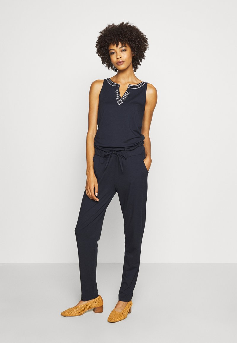 comma casual identity - OVERALL LANG - Jumpsuit - blue