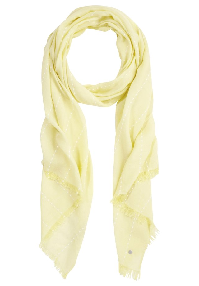 TUCH MIT WEBMUSTER - Scarf - lemon