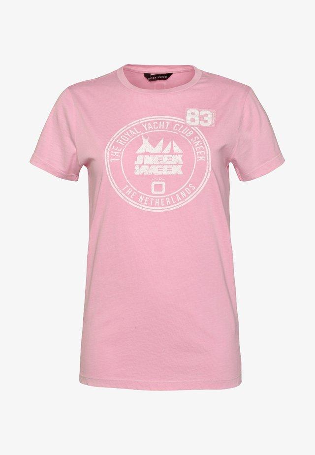 SNEEKWEEK  DAMEN - Print T-shirt - rose
