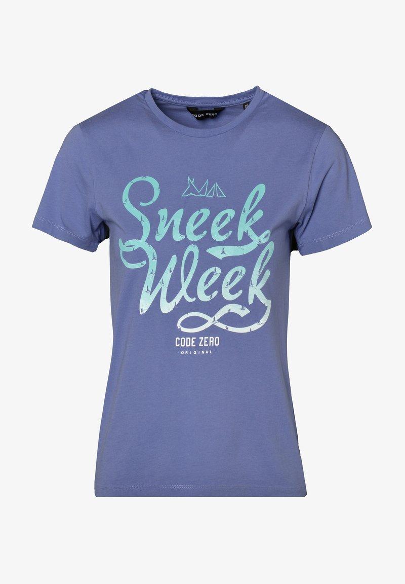 CODE | ZERO - Print T-shirt - denim blue