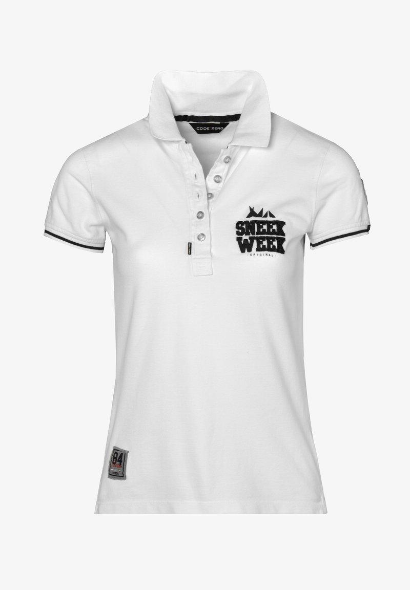 CODE | ZERO - SNEEKWEEK - Polo shirt - white
