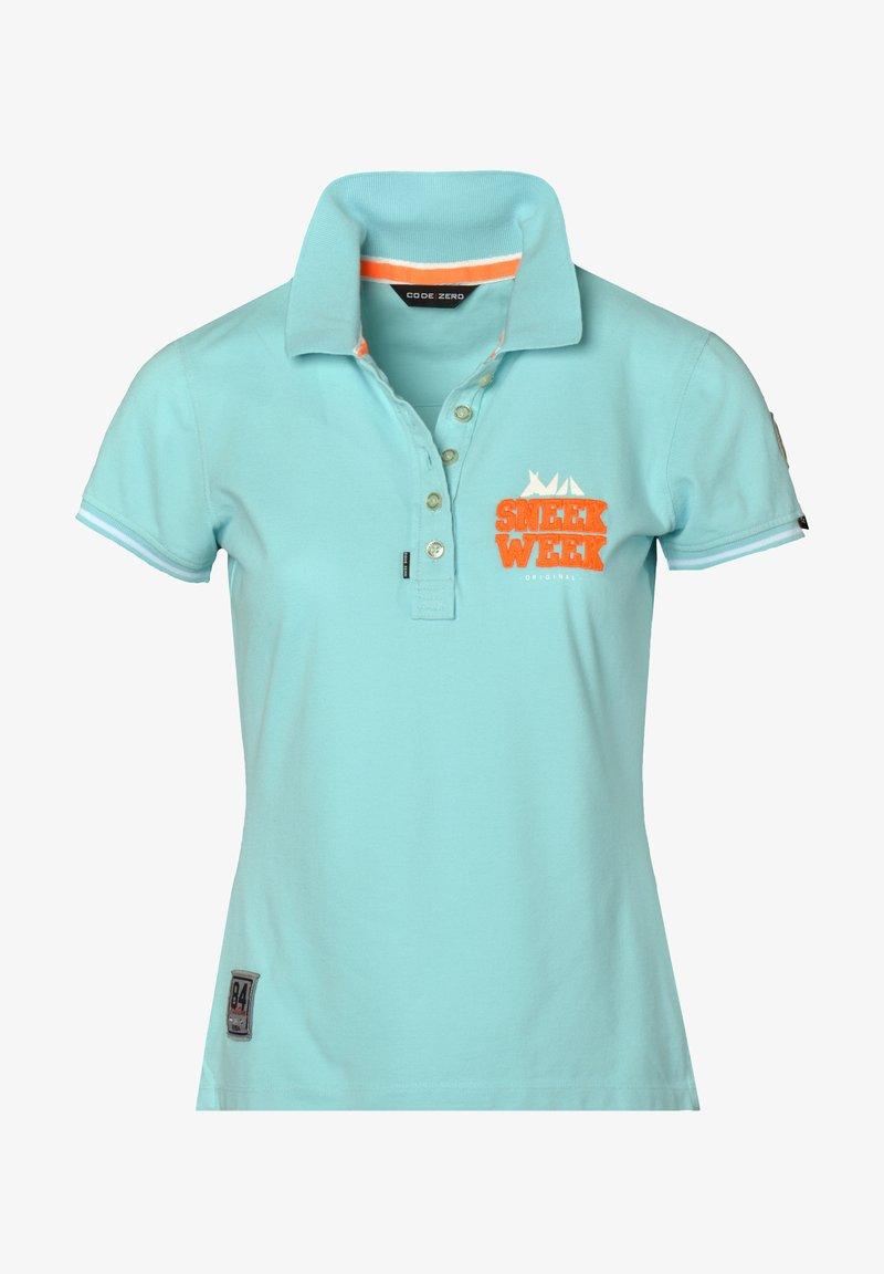 CODE   ZERO - SNEEKWEEK - Polo shirt - turquoise