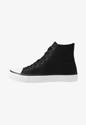 TYLER - High-top trainers - black/white