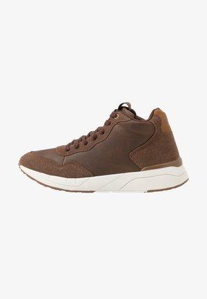 MARCEL - Sneakers hoog - brown/white