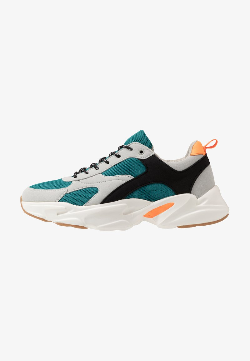 Cotton On - JOEL CHUNKY  - Trainers - teal/grey/orange