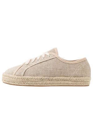 LACE UP - Stringate sportive - natural/silver