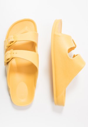 TWIN STRAP SLIDE - Pantolette flach - honey gold