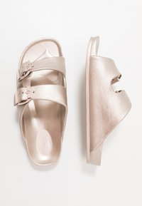 Cotton On - TWIN STRAP SLIDE - Mules - rose gold - 0