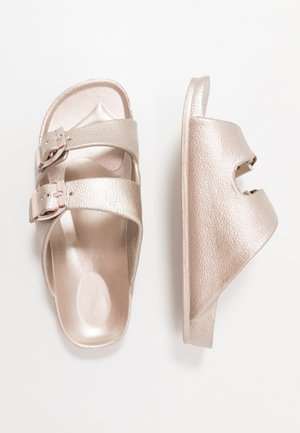 TWIN STRAP SLIDE - Mules - rose gold
