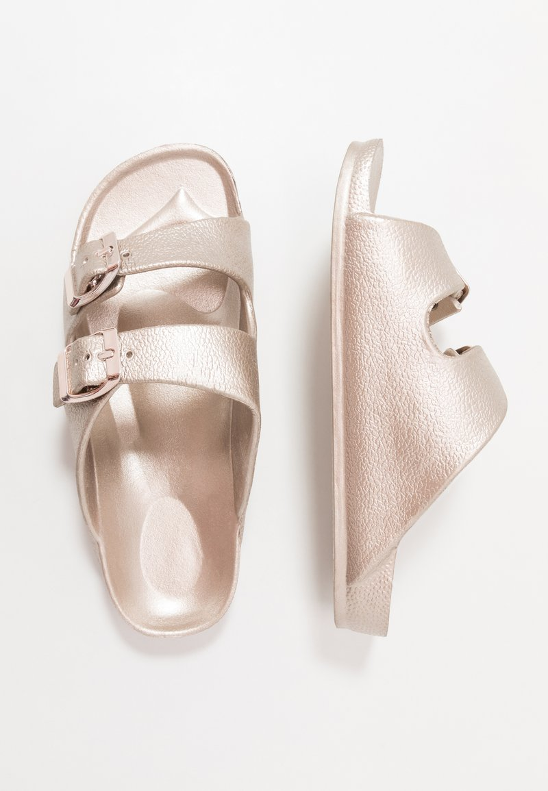 Cotton On - TWIN STRAP SLIDE - Mules - rose gold
