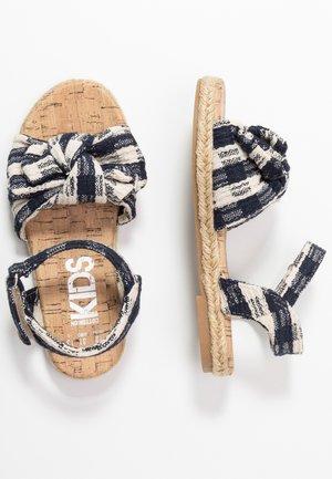BOW  - Sandals - navy blazer