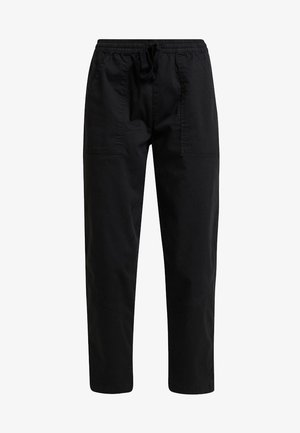 ROLLED HEM CHINO - Trousers - black