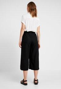 Cotton On - HIGH WAIST CULOTTE - Kalhoty - black - 3