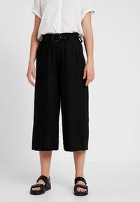 Cotton On - HIGH WAIST CULOTTE - Kalhoty - black - 0