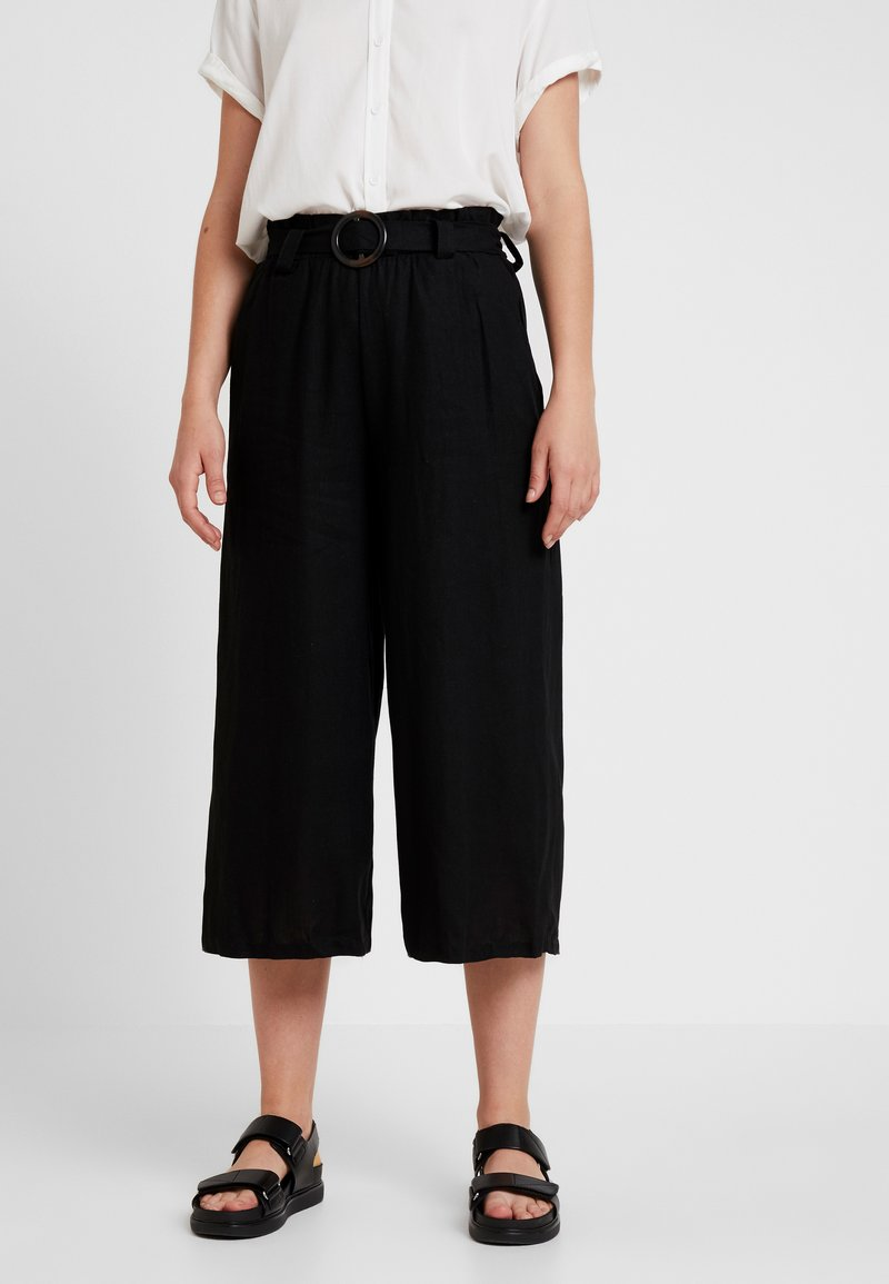 Cotton On - HIGH WAIST CULOTTE - Kalhoty - black