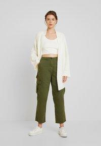 Cotton On - BREYA UTILITY CROP PANT - Trousers - winter moss - 1