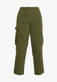 Cotton On - BREYA UTILITY CROP PANT - Trousers - winter moss - 3