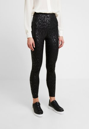 CHELSEA HIGH WAISTED - Leggings - Trousers - black