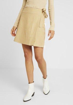 WOVEN HEIDI WRAP SKIRT - A-line skirt - taffy