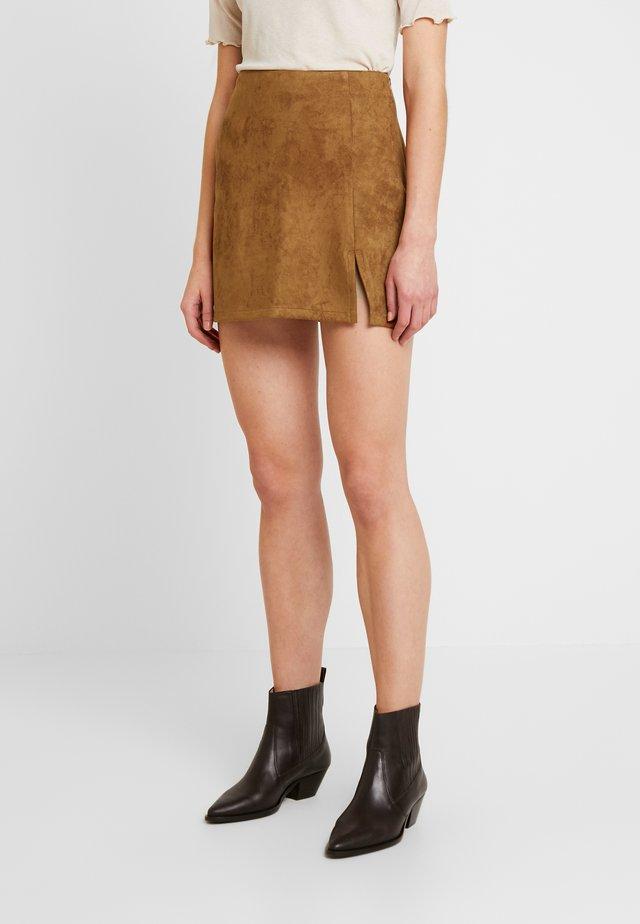 ANNABELLE MINI SKIRT - Mini skirt - tan