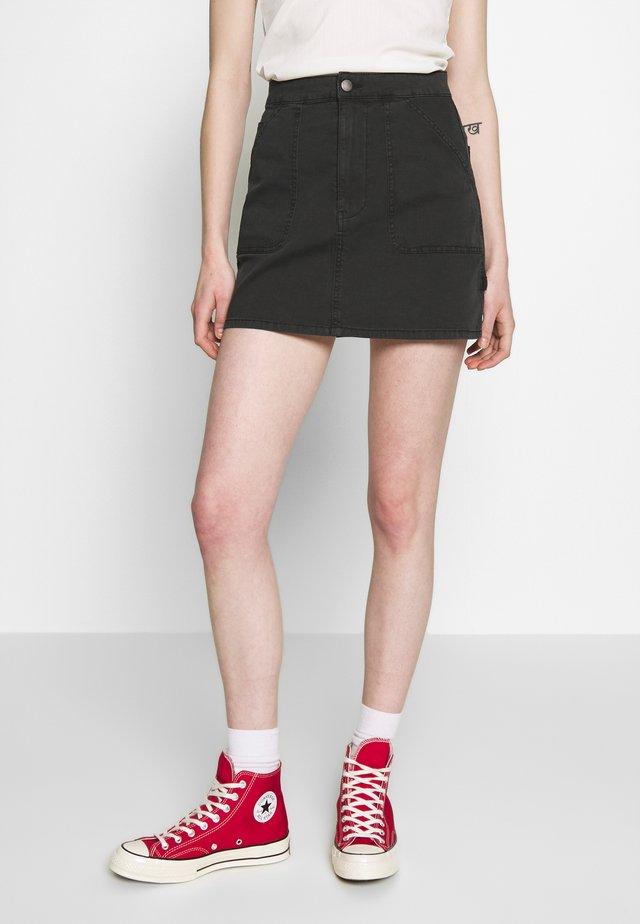 KASHA UTILITY MINI SKIRT - Minifalda - black