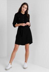 Cotton On - TAMMY LONG SLEEVE DRESS - Skjortekjole - black - 1