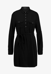 Cotton On - TAMMY LONG SLEEVE DRESS - Skjortekjole - black - 5