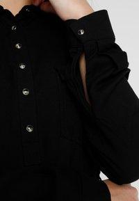 Cotton On - TAMMY LONG SLEEVE DRESS - Skjortekjole - black - 6