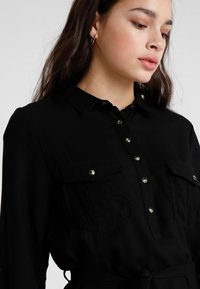Cotton On - TAMMY LONG SLEEVE DRESS - Skjortekjole - black - 3