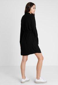 Cotton On - TAMMY LONG SLEEVE DRESS - Skjortekjole - black - 2