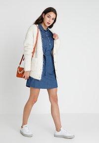 Cotton On - TAMMY LONG SLEEVE DRESS - Skjortekjole - dark denim - 1