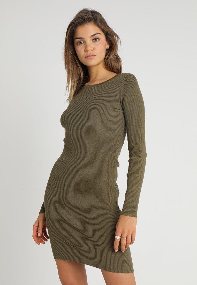Cotton On - SALLY LONG SLEEVE DRESS - Etuikjoler - khaki